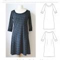 Audrey kjole mønstret