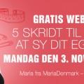 Syning for begyndere. Gratis webinar af MariaDenmark