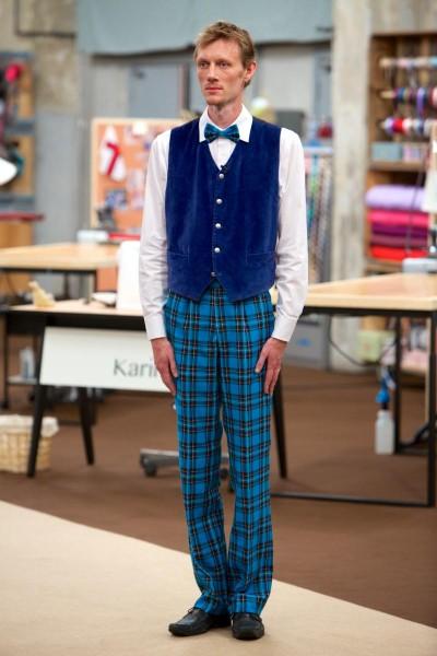 klar parat sy Henriks fantastiske ternede bukser!