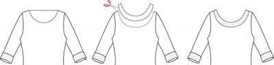 halskanten på MariaDenmark Audrey - noget forenklet
