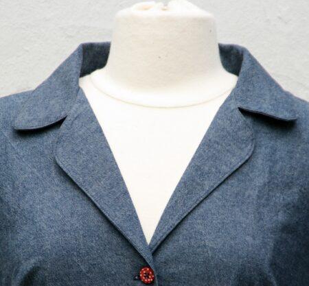 Edith kjole mønster symønster krave 50'er kjole mariadenmark