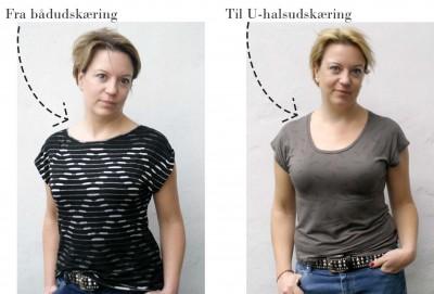 Sådan ændrer du halsudskæringen