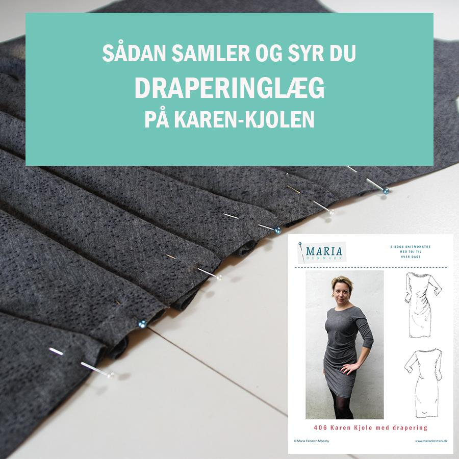 Karen Kjolen med draperinger: Sådan markerer, samler og syr du nemt draperingslæg