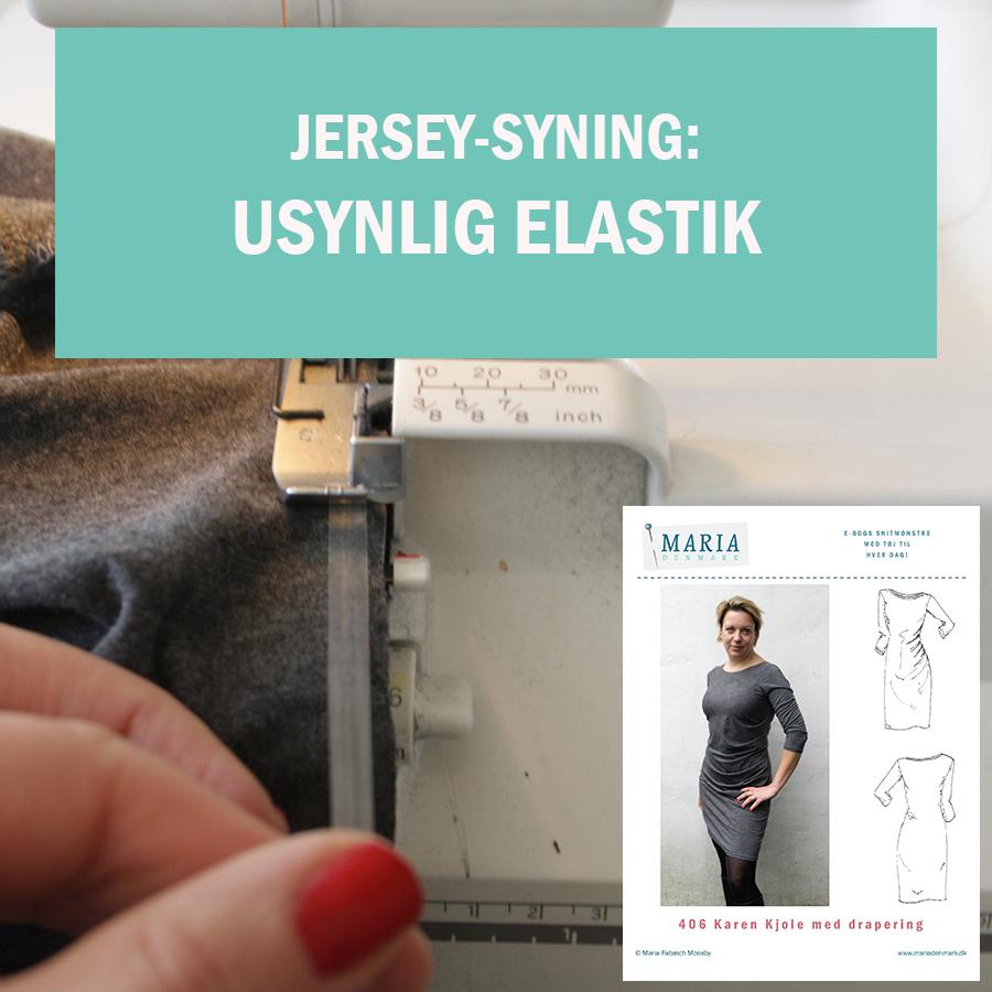 Jersey-syning: Usynlig elastik i halsudskæringen