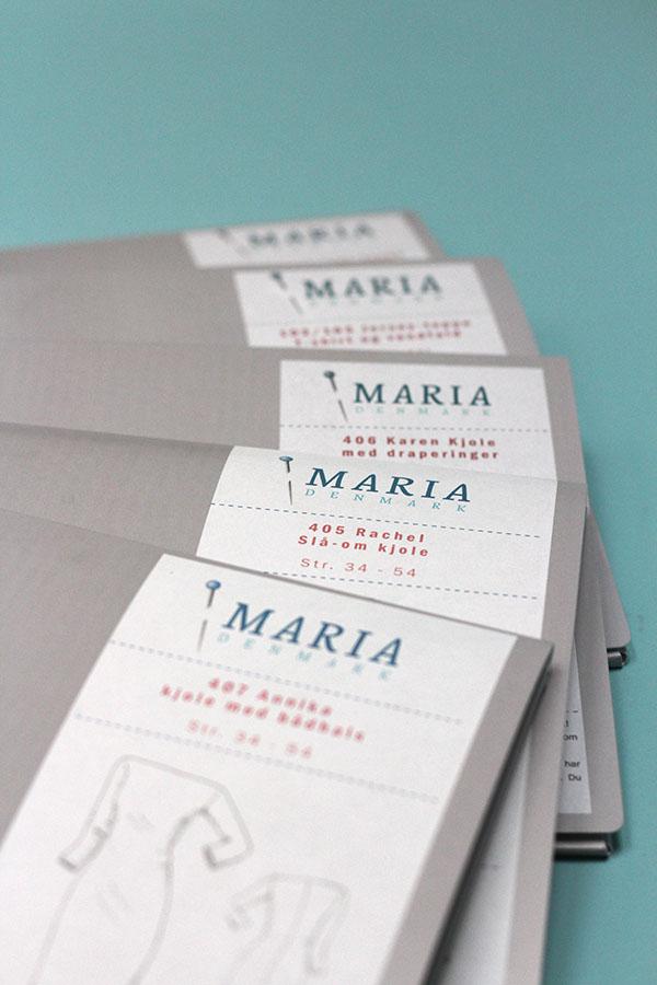 MariaDenmark trykte snitmønstre