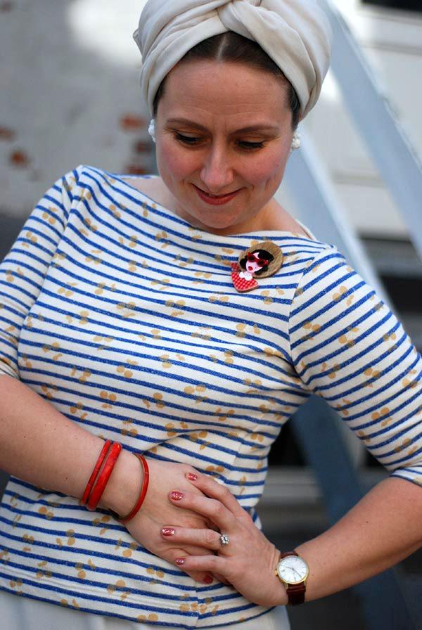 Det kommer an på stoffet (og stylingen): Sy en Annika i vintage-stil